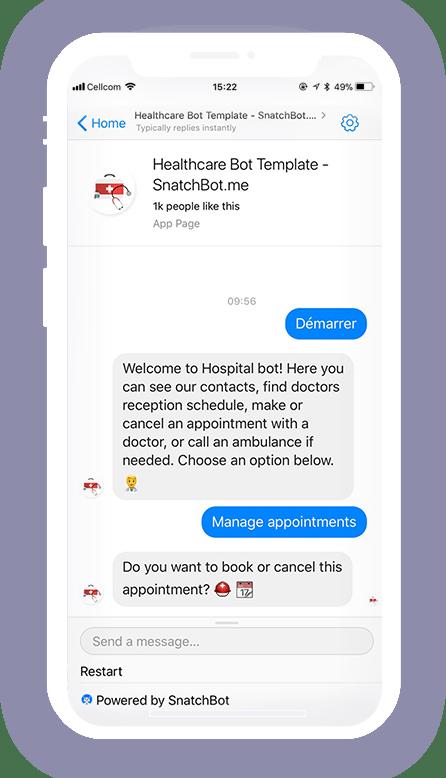 医疗保健自动机器人模板
