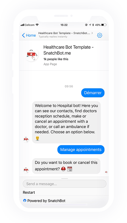 Modello Bot Assistenza Sanitaria